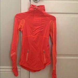 Lulemon orange half zip jacket